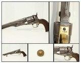 CAVALRY Uniform Button & CIVIL WAR COLT 1860 ARMY .44 Caliber Cavalry Revolver by Samuel Colt Made 1863