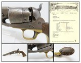 LETTERED US Army Shipped CIVIL WAR COLT Model 1860 ARMY Percussion REVOLVER