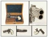 DENVER J.P. LOWER CASED ENGRAVED REM DERINGERRare Cased, Engraved Remington Double Deringer! - 1 of 14