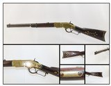 Tack Adorned Antique WINCHESTER YELLOWBOY 1866 44 HENRY Saddle Ring Carbine NATIVE AMERICAN Style Saddle Ring Carbine Made in 1890