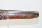 Antique DUTCH/BELGIAN Sea Service .69 Caliber FLINTLOCK Military Pistol .69 Caliber Naval Pistol Made Circa 1830s in Liege - 4 of 15