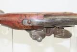 Antique DUTCH/BELGIAN Sea Service .69 Caliber FLINTLOCK Military Pistol .69 Caliber Naval Pistol Made Circa 1830s in Liege - 9 of 15