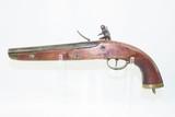 Antique DUTCH/BELGIAN Sea Service .69 Caliber FLINTLOCK Military Pistol .69 Caliber Naval Pistol Made Circa 1830s in Liege - 11 of 15