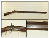 OHIO/INDIANA Antique .45 Long Rifle by SAUCERMAN G. Saucerman Marked Circa 1840s Percussion Long Rifle