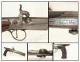 ENGRAVED Joseph Rock Cooper SAW HANDLE Pistol .45 English Made Circa 1840s Saw Handle!