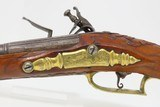 "c18th Century ITALIAN ""LAZARO"" FLINTLOCK Pistol .48 Caliber Ornate Engraved, Carved, Gold Washed, Signed - 17 of 18"