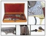 "VINE ENGRAVED, CASED Antique COLT Model 1849 POCKET Revolver c1868 .31 Cal 1868 ""Late Percussion Vine"" Factory Scroll"