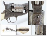 GUSTAVE YOUNG Engraved COLT Model 1849 Revolver w EAGLE/SNAKE Ivory Grips Mfrd. 1856 Germanic Scroll Engraved