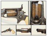 "FACTORY Engraved GOLD Washed COLT 1855 ""ROOT"" POCKET Revolver w Ivory Grips Colt's Distinctive SIDE-HAMMER Revolver Made 1859"