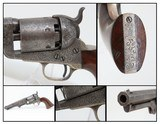 GUSTAVE YOUNG Engraved Antebellum COLT Model 1851 NAVY Revolver ft. DOGS Manufactured in 1856 in Hartford, Connecticut!