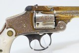 1906 ENGRAVED GOLD Nickel MOTHER-OF-PEARL .38 S&W Safety Hammerless RevolverWith Smith & Wesson Archive Letter! - 20 of 25