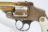 1906 ENGRAVED GOLD Nickel MOTHER-OF-PEARL .38 S&W Safety Hammerless RevolverWith Smith & Wesson Archive Letter! - 5 of 25