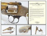 1906 ENGRAVED GOLD Nickel MOTHER-OF-PEARL .38 S&W Safety Hammerless Revolver