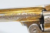 1906 ENGRAVED GOLD Nickel MOTHER-OF-PEARL .38 S&W Safety Hammerless RevolverWith Smith & Wesson Archive Letter! - 7 of 25