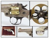 Cased, Lettered NEW YORK Engraved SMITH & WESSON .32 S&W REVOLVER Gold Silver Shipped to Marcus Hartley in New York City 1909