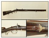 FANCY Germanic JAEGER Rifle in .50 Caliber CARVED & ENGRAVED 19th Century Antique Full Stock European Hunting Rifle - 1 of 24