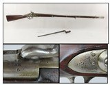 SIBERIA Marked SPRINGFIELD M1816 Smoothbore .69 Caliber Musket Antique 1839Curiously SIBERIA Marked Musket with BAYONET! - 1 of 23