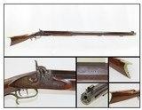 Massive INDIANA Precision LONG RIFLE by JOHN BIXLER .44 Caliber 19+ LBS. Made in Lafayette, Indiana Circa the 1880s