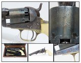 Exquisite GUSTAVE YOUNG Engraved COLT 1849 POCKET Revolver Made in 1860 Cased, Engraved, Silver Plated, Ivory Grips