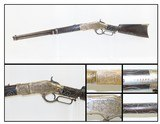 Engraved WINCHESTER Model 1866 SILVER INLAID Saddle Ring .44 Henry CARBINE Retailer Engraved, Nickel Finished SRC!