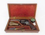 FINE, RARE, CASED MASS. ARMS Pocket Model ADAMS PATENT Percussion Revolver 1 of Only 100 Manufactured in This Configuration! - 10 of 21