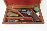 FINE, RARE, CASED MASS. ARMS Pocket Model ADAMS PATENT Percussion Revolver 1 of Only 100 Manufactured in This Configuration! - 13 of 21