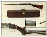 Engraved AUGUSTE FRANCOTTE SxS Hammerless Shotgun ANTIQUE 12 Gauge Made In 1896 with LEATHER CASE