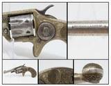 Engraved, Inscribed COLT NEW LINE .22 ETCHED Panel Revolver w DeGRESS GRIPS Single Action .22 7-Shot POCKET REVOLVER!