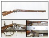 GERMANIC Antique JAEGER Rifle .64 Caliber PERCUSSION with Sliding Patchbox! Short, Handy Mountain Rifle with Carved Stock!