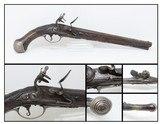 NEUSTATT BAVARIAN Antique Flintlock PISTOL Officer Gentleman .58 Cal SILVER Elegant Mid-to-Late 18th Century Sidearm!