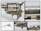 ENGRAVED 1st Gen COLT Single Action Army .45 COLT Revolver C&R 1922 SAA Gorgeous Engraved Peacemaker in Nickel!