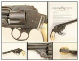 Antique 1 of 100 U.S. Army Contract S&W .38 Safety Hammerless Revolver 1890 Exceedingly Rare U.S. Martial Firearm w Factory Letter - 1 of 19