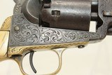 GUSTAVE YOUNG Engraved COLT 1849 POCKET Revolver Made 1853, Engraved with IVORY & Leather Holster! - 21 of 24