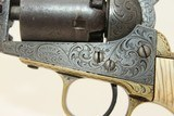 GUSTAVE YOUNG Engraved COLT 1849 POCKET Revolver Made 1853, Engraved with IVORY & Leather Holster! - 11 of 24