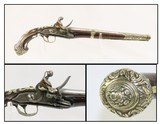 ORNATE Antique MEDITERANEAN Flintlock MILITARY Pistol Carved Engraved 1700s 1800s Late-18th / Early 19th Century Pistol