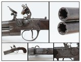 Antique CHANCE & SONS Tap Action OVER/UNDER Flintlock PISTOL Manufactured by W&G CHANCE for the Indian & Trapper Trade