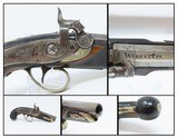 "ENGRAVED Antique JOHN WURFFLEIN ""PHILADELPHIA DERINGER"" Percussion Pistol Period & Quality Copy of Henry Deringer's Famous Pistol"