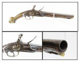 ENGRAVED 1700s EUROPEAN Antique FLINTLOCK .61 Caliber Pistol Italian With Unique Markings and a Beautifully Carved Stock!