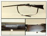 1860s Antique ETHAN ALLEN Frontier Handy Rifle With Period Tang Aperture Sight & Leather Sling! - 1 of 22