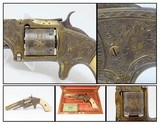 JOHN DICKSON of EDINBURGH Scotland SMITH & WESSON No. 2 Old ARMY Revolver CASED, ENGRAVED, IVORY and GOLD PLATE!
