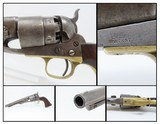 Early CIVIL WAR COLT Model 1860 ARMY REVOLVER Made in 1861 Antique .44 Cal 4-SCREW with Primitive CARVING of an EAGLE on the Grip! - 1 of 18