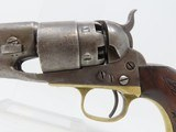 Early CIVIL WAR COLT Model 1860 ARMY REVOLVER Made in 1861 Antique .44 Cal 4-SCREW with Primitive CARVING of an EAGLE on the Grip! - 4 of 18