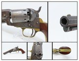 CIVIL WAR Era MANHATTAN FIRE ARMS CO. Series III Percussion POCKET RevolverENGRAVED With Multi-Panel CYLINDER SCENE