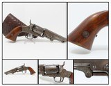 RARE Series I MANHATTAN FIRE ARMS CO. POCKET Revolver .31 Caliber ENGRAVED With Fantastic Leather Holster!
