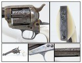 GORGEOUS Engraved Pearl Case-Colored 1st Generation COLT SAA in .38 SPL 1929 Manufacture Colt Single Action Army Showpiece!