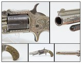 Rare Antique MARLIN No. 32 Standard 1875 REVOLVER with Lovely DeGRESS GRIPS Engraved with Custom Figured Grips in 1870s