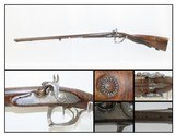 ENGRAVED Antique NICOLAS BOUTET Percussion Conversion DOUBLE BARREL Shotgun French GOLD INLAID Side by Side Fowling Piece! - 1 of 25
