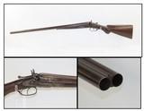 SCARCE Engraved Antique COLT Model 1878 10 Gauge Side x Side HAMMER SHOTGUN Double Barrel Made in 1883 with Damascus Barrels