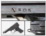 WWII Imperial JAPANESE Nagoya KOKUBUNJI Type 94 Semi-Automatic Pistol C&R Dated October 1943 World War II Service Pistol - 1 of 20