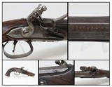 c1830 FRENCH FLINTLOCK Belt Pistol .575 Caliber Smoothbore European Pocket ENGRAVED and CHECKERED STOCK Flint Pistol